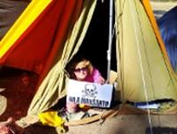 argentinisches protest camp gegen monsanto